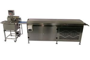 Small mini date bar chocolate coating machine line